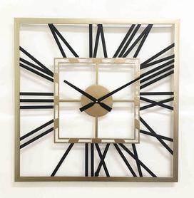 Square Metal Wall Clock