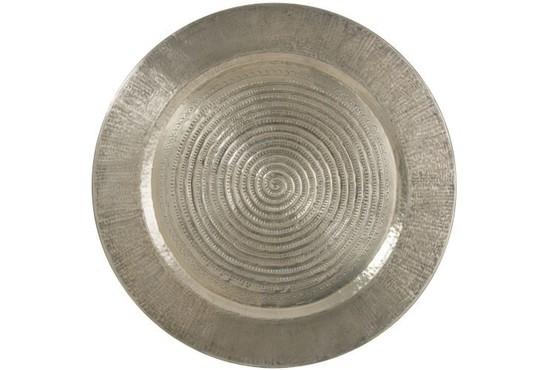 Plateau Rond Aluminium Grijs