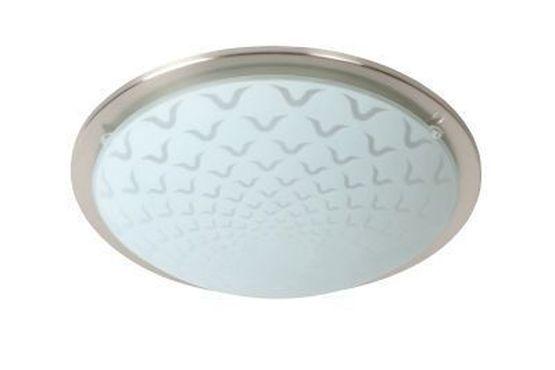 RUNE - Plafonnière - Ø 27 cm - LED - 1x8W 3000K - Mat chroom