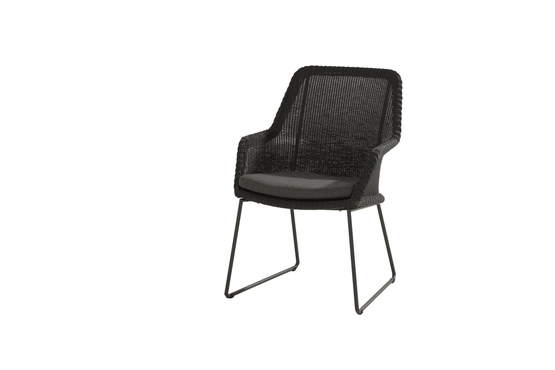 Samoa dining chair Ecoloom Anthracite with cushion