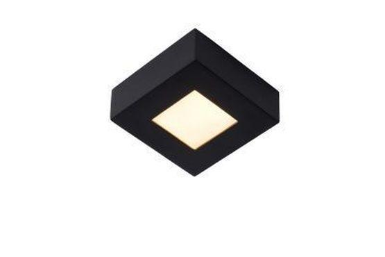 BRICE-LED - Plafonnière Badkamer - LED Dimb. - 1x8W 3000K - IP44 - Zwart