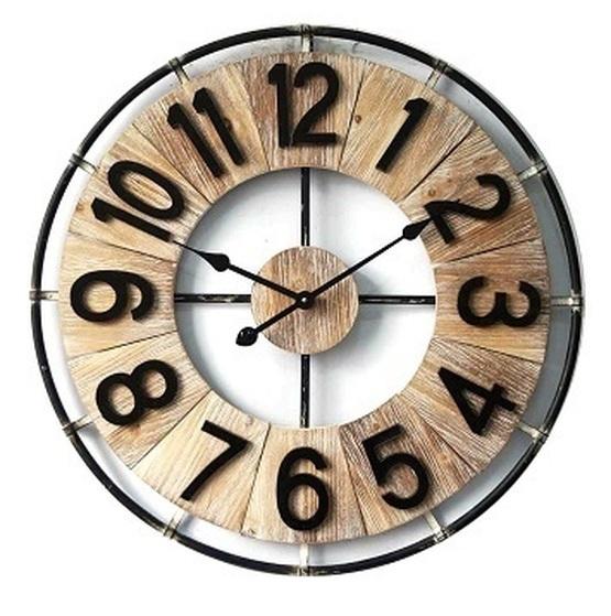 Wooden/Metal Round Clock Tile