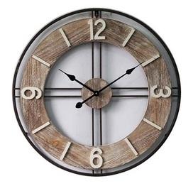 Wooden/Metal Round 4 Digit Clock Dia 70*5cm € 74,95