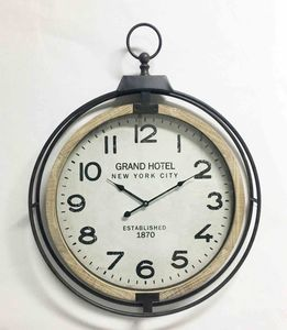Metal/Wood Clock 'Grand Hotel' 67*7*79cm Glass Cover € 88,95