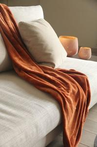 Plaid Microfibre 180*200 Grand Luxe Cognac  € 18,95