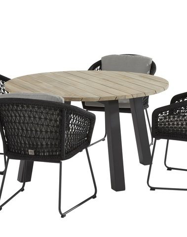 Mila Dining + Derby tafel 130cm rond