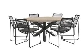 Elba Dining+Louvre teak tafel