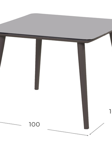 Sophie studio tafel hpl 100*100 zwart