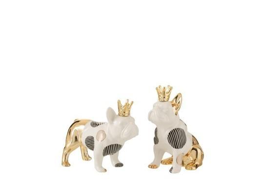 Bulldog Kroon zittend Medium