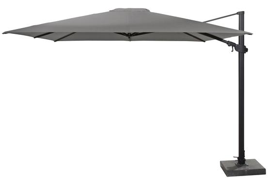 Parasol Siesta premium 300*300cm charcoal met parasolvoet 125Kg