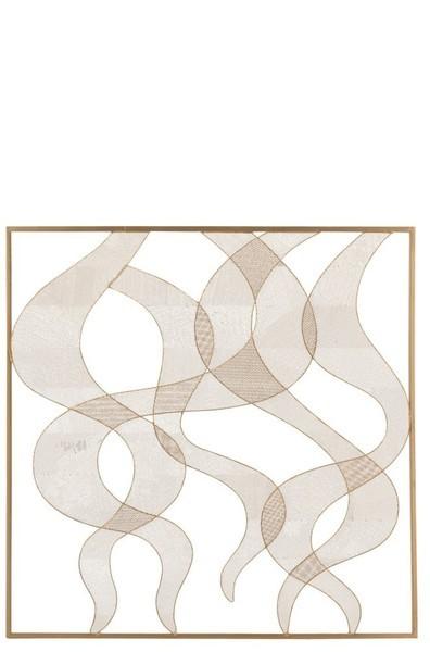 Wanddecoratie Curves Metaal Goud