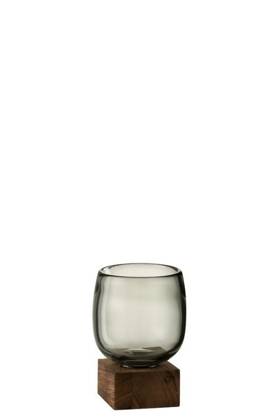 Vaas Op Voet Hoog Glas Small