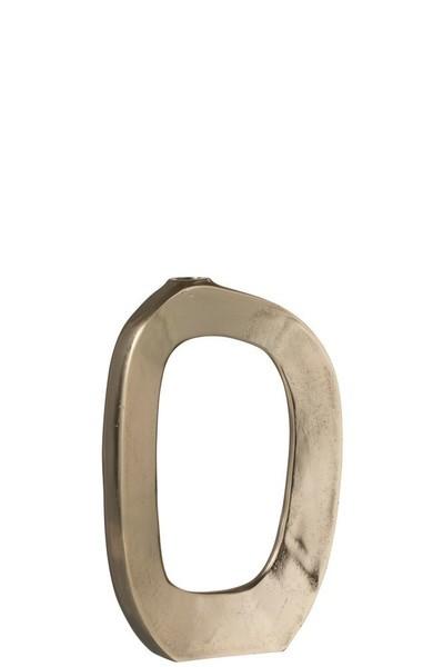 Vaas Ovaal Open Aluminium Goud Small