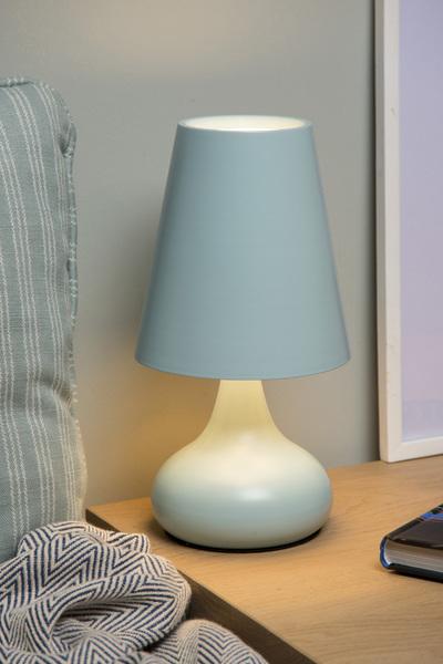 Tafellamp Isla pastel blauw