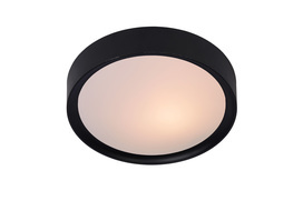 Plafonnière Lex met twee lichtbronnen zwart
