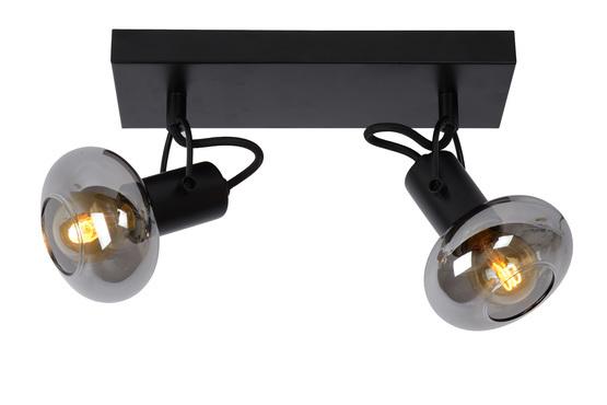 Plafondspot Madee zwart twee lichtbronnen