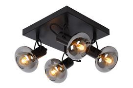 Plafondspot Madee 4 lichtbronnen zwart