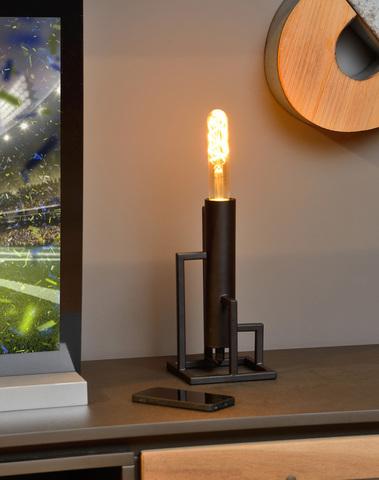 ZILDA - Tafellamp - 1xE27 - Zwart