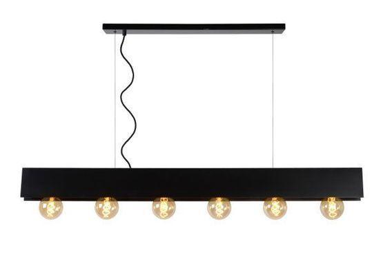 SURTUS - Hanglamp - 6xE27 - Zwart
