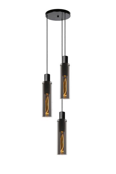 ORLANDO - Hanglamp - Ø 32 cm - 3xE27 - Fumé