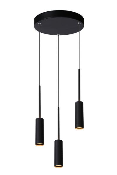 TUBULE - Hanglamp - 3x7W 2700K - Zwart