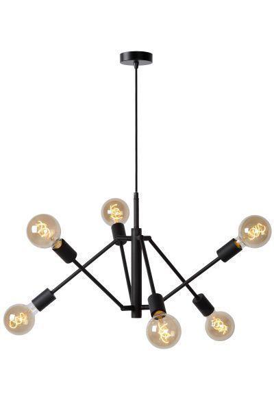 LESTER - Hanglamp - 6xE27 - Zwart