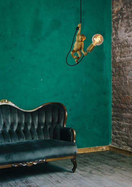 CHIMP - Hanglamp  - 1xE27 - Zwart