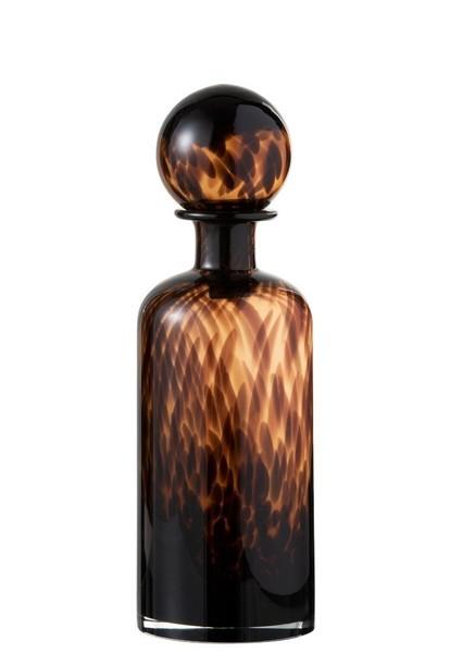 Fles+Stop Spikkel Decoratief Glas