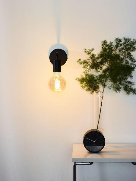 SCOTT - Wandlamp - 1xE27 - Zwart