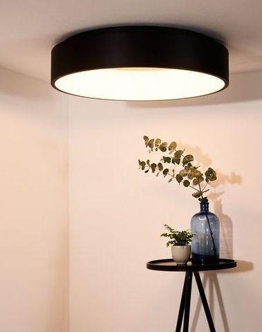 TALOWE LED - Plafonnière - Ø 60 cm - LED Dimb. - 1x42W 3000K - Zwart