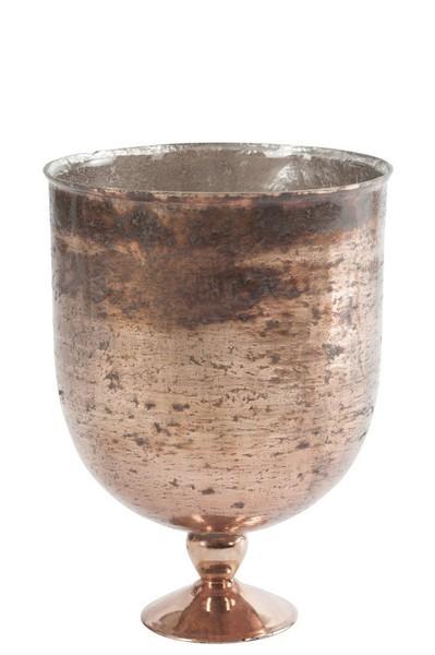 Vaas Rond Glas Antiek Bruin