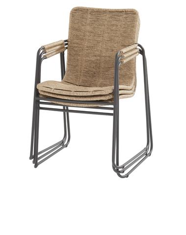 Palma stacking chair natural