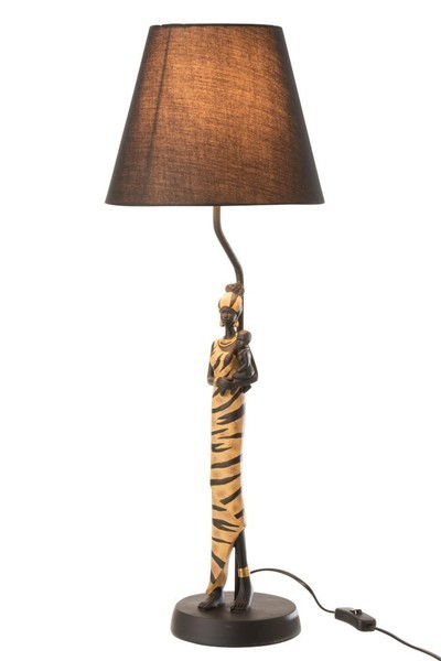 Lamp Afrikaanse Vrouw Zebra