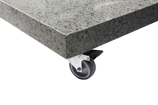 Wieltjes voor granieten voet 125kg