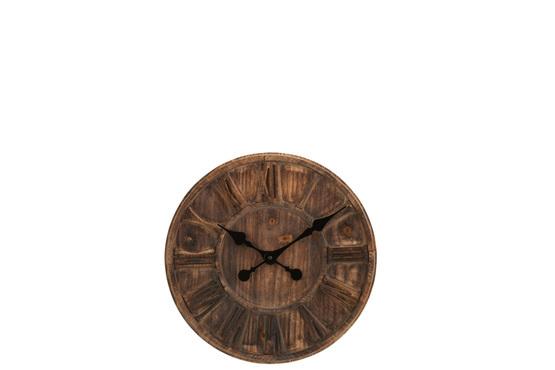 Klok Houten Schijf Romeinse Cijfers