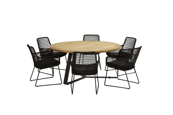 Athena stoel +Basso tafel rond