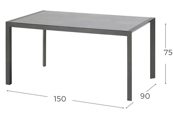 California tafel 150*90