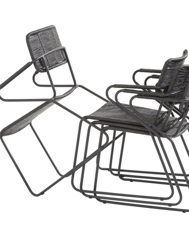 Swing dining chair anthracite