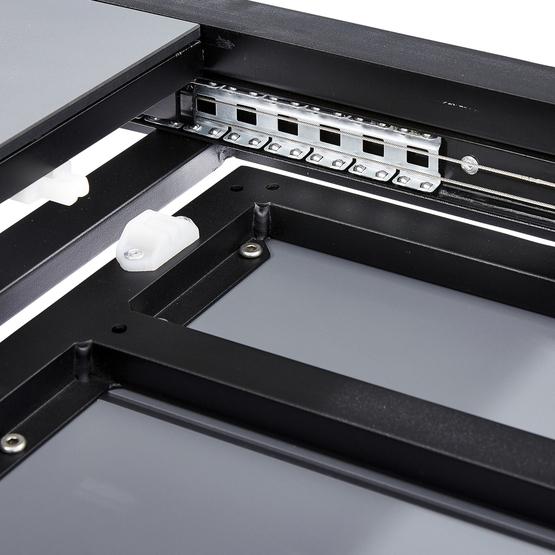 Tafel uitschuifbaar aluminium/HPL