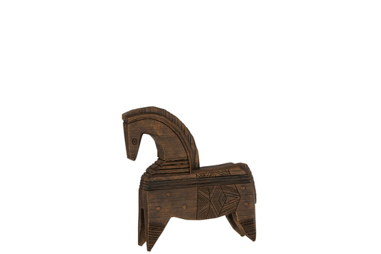 Paard Poly Bruin Small