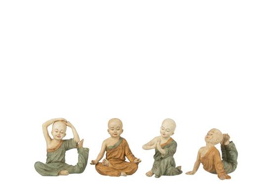 Monnik Yoga Poly Oker/Groen Small Assortiment Van 4