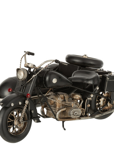 Moto Met Zijspan Retro
