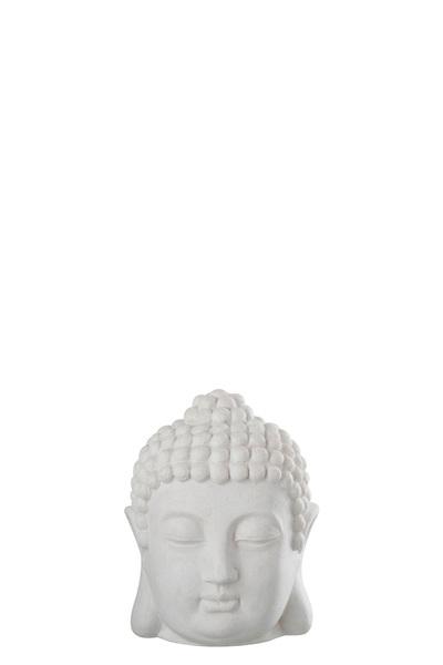 Hoofd Boeddha Poly Wit large