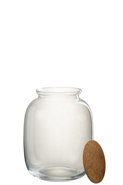 Pot Roxy Decoratief Glas/Kurk Transparant Small