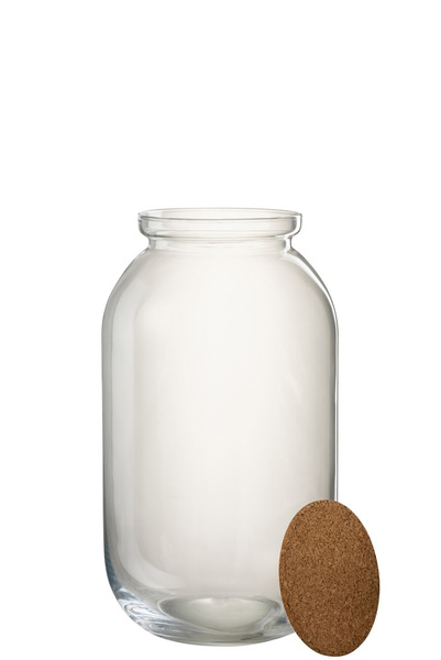 Pot Roxy Decoratief Glas/Kurk Transparant Large