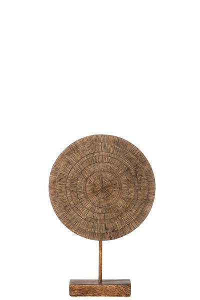 Cirkel Op Voet Poly Bruin Small