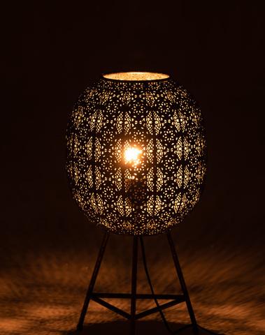 Staanlamp Driepoot Antiek Metaal Mix