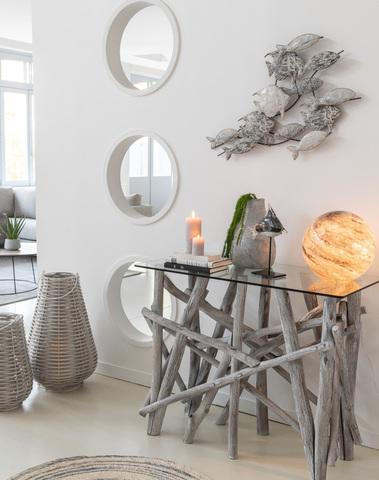 Lamp Dany Rond Glas Grijs L